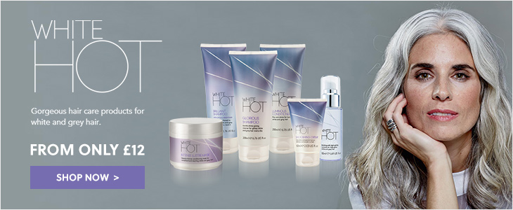 White Hot Hair - Gorgeous hair care products for grey and white hair - From Only £12