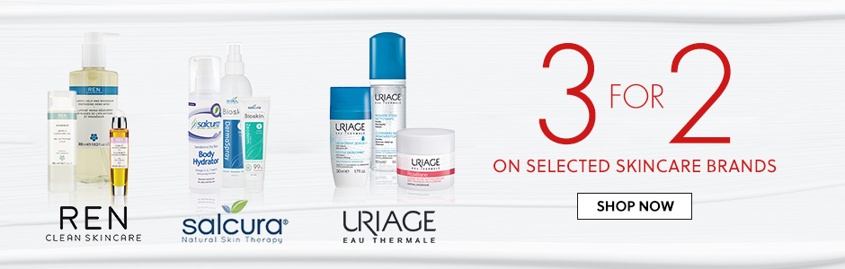 3 for 2 on skincare brands