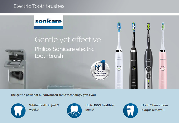 Sonicare electric toothbrushes