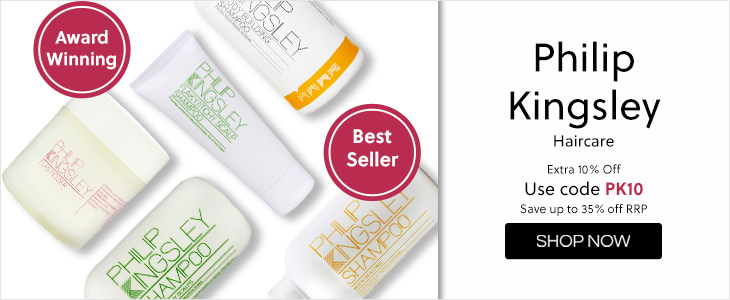 Philip Kingsley Extra 10% Off with code  Save up to 35% off RRP, Use Code PK10