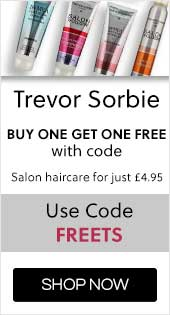 Trevor Sorbie  Buy one get one free with code  Salon haircare for just £4.95, Use Code FREETS