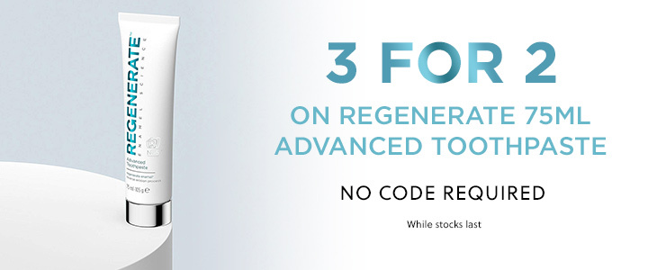 Regenerate 3 for 2 on Toothpaste