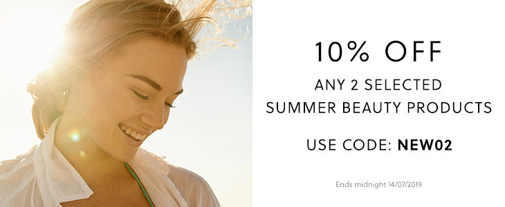 10% Off Selected Summer Beauty