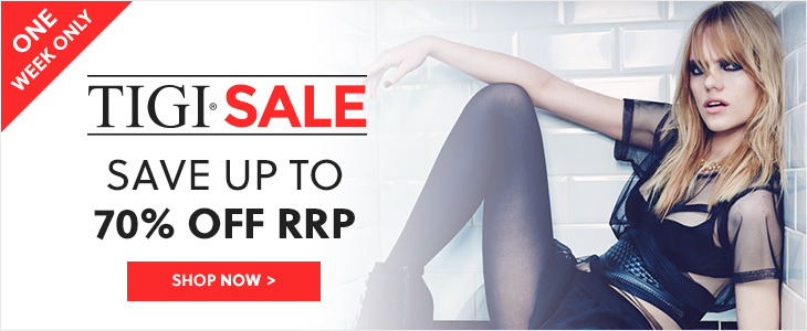 TIGI Sale - Save Up To 70% Off RRP + FREE TIGI Pintin When You Spend £25 - Use Code PINTIN