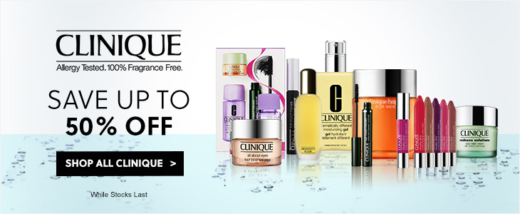 Clinique - Save Up To 50% Off RRP