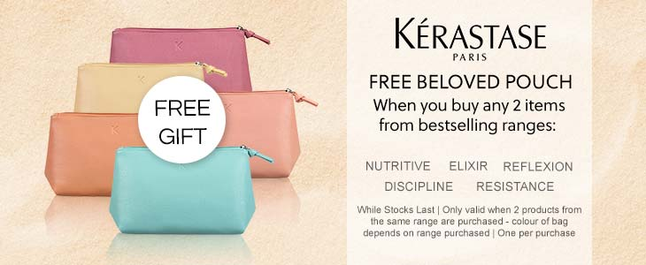 Kerastase - FREE Beloved Pouch - When you buy any 2 items from bestselling ranges
