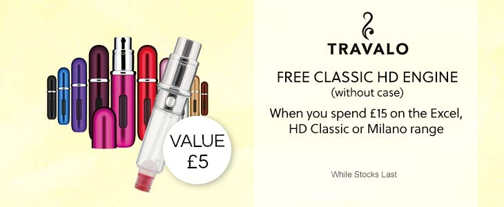 Travalo - FREE CLASSIC HD ENGINE (without case) - When you spend £15 on the Excel, HD Classic or Milano range