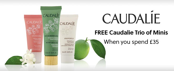 Caudalie Skin Care and free gift when you buy any 2 Caudalie