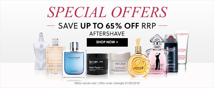 Special Offers Up To 65% Off RRP - Aftershave