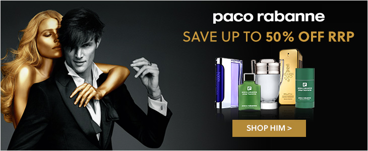 Paco Rabanne For Men- Save Up To 50% Off RRP