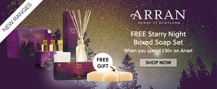 Arran - FREE Starry Night Boxed Soap Set