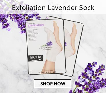Exfoliation Lavender Sock