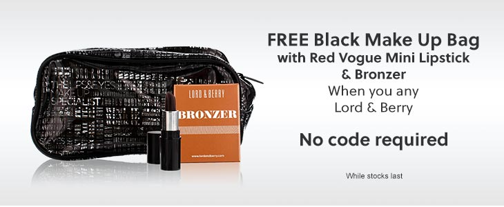 Lord & Berry Free Makeup Bag