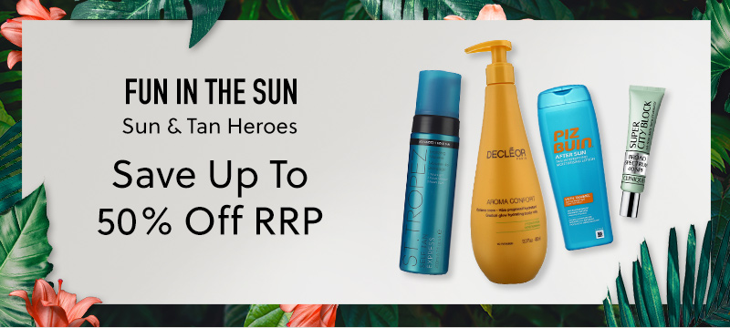 Sun & Tan Heroes - Save Up To 50% Off RRP