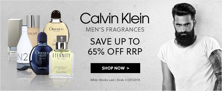 Calvin Klein Men's Fragrances Up To 65% Off RRP