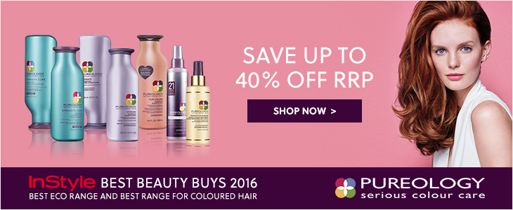 Pureology - Save Up To 40% Off RRP - Instyle Best Beauty Buys 2016 | Best Eco Range and Best Range for Coloured Hair