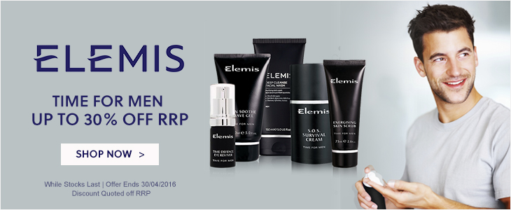 Mens Skincare - Elemis Time for Men Up To 30% Off RRP