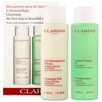 Clarins Sets Cleansing Milk 200ml and Toning Lotion Alcohol-Free Combination/Oily Skin 200ml