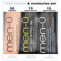 men-ü Shave / Facial Matt Refresh & Moisture Set 3 x 15ml