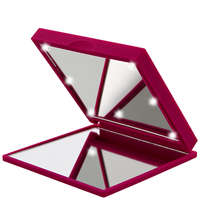 Flo Mirrors Soft Touch Celebrity LED Fuchsia Mirror