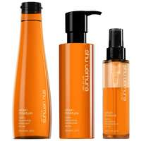 Shu Uemura Art of Hair Urban Moisture Trio Set: Shampoo 300ml, Conditioner 250ml & Double Serum 100ml