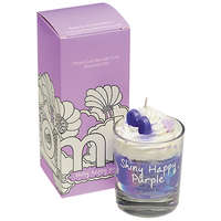 Bomb Cosmetics Piped Candle Shiny Happy Purple