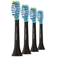 Philips Toothbrush Heads Sonicare AdaptiveClean Standard Sonic Toothbrush Heads Black x4 HX9044/27