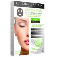 Christian BRETON Age Priority Charcoal Facial Patches Masks x 3