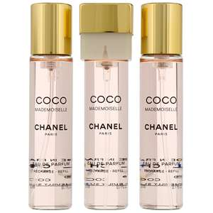 Chanel Coco Mademoiselle Eau de Parfum Twist & Spray 3 x 20ml Refills