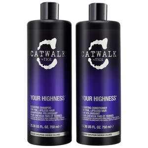 TIGI Catwalk Your Highness Your Highness Tween Set Salon Size Shampoo 750ml and Conditioner 750ml