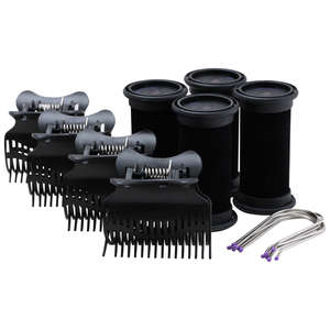 diva professional styling Rollers Hot Pod Rollers 25mm x 4 Pack, including Pins & Clips