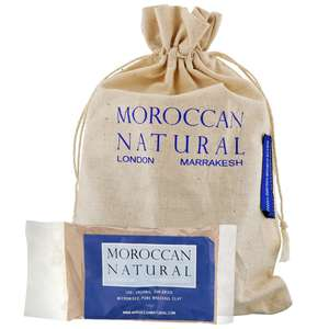 Moroccan Natural Manatude Rhassoul Clay Sachets 4x50g