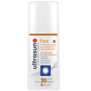 Ultrasun Face  Tinted Anti-Ageing for Sensitive Skin SPF30 50ml