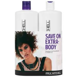 Paul Mitchell Extra Body Extra Body Daily Shampoo 1000ml & Daily Rinse 1000ml