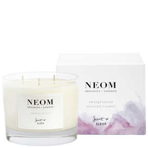 Neom Organics London Scent To Sleep Tranquillity 3 Wicks Scented Candle 420g