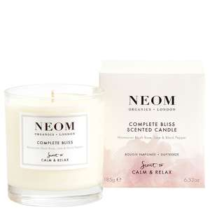 Neom Organics London Scent To Calm & Relax Complete Bliss 1 wick Scented Candle 185g