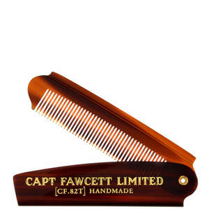 Captain Fawcett Grooming Folding Pocket Beard Comb