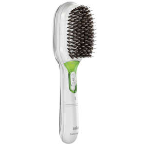Braun Satin Hair 7 IONTEC White Hair Brush With Natural Bristles For Fine to Medium hair Types