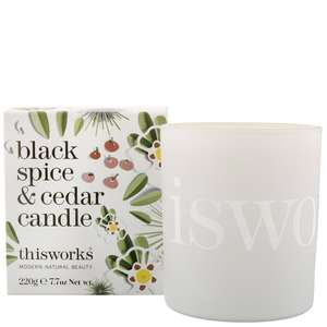 thisworks Gifts Black Spice & Cedar Candle 220g Limited Edition