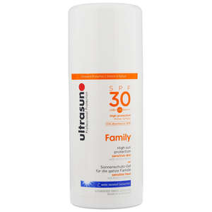 Ultrasun Sun Protection  All Family Sun Gel For Very Sensitive Skin SPF30 100ml