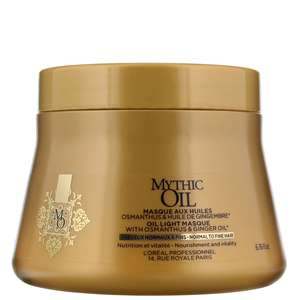 L'Oréal Professionnel Mythic Oil Oil Light Masque for Normal to Fine Hair 200ml