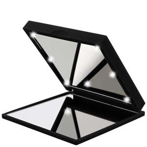 Flo Mirrors Soft Touch Celebrity LED Black Mirror