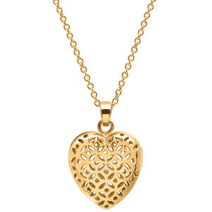 Flo Perfume Jewellery Gold Heart Shaped Locket (With 3 Slow Release Capsules)