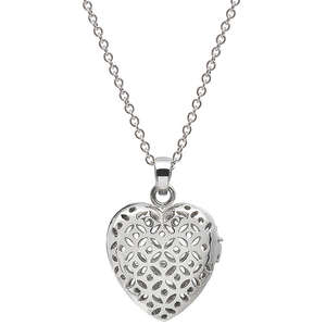 Flo Perfume Jewellery Silver Heart Shaped Locket (With 3 Slow Release Capsules)