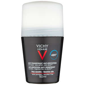 VICHY Laboratories Homme 48hr Anti-Perspirant Deodorant Roll-On for Sensitive Skin 50ml