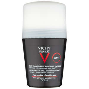 VICHY Laboratories Homme 72hr Extreme Anti-Perspirant Deodorant Roll-On for Sensitive Skin 50ml