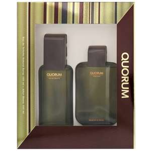 Antonio Puig Quorum Eau de Toilette Spray 100ml & Aftershave Splash 100ml