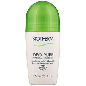 Biotherm Deodorants Deo Pure Natural Protect 24h Roll-On 75ml