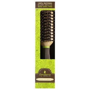 Macadamia Classic Accessories 100% Natural Boar With Ionic Pins Tunnel Vent Brush