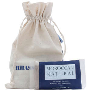 Moroccan Natural Organic Rhassoul Clay 4 x 50g packs